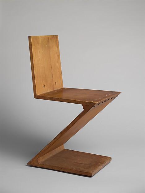 Zig Zag Stoel, Gerrit Rietveld (Dutch, Utrecht 1888u20131964 Utrecht),