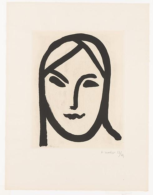 Figure aux bandeaux, Henri Matisse (French, Le Cateau-Cambrésis 1869–1954 Nice), Chine collé aquatint, edition 13/25
