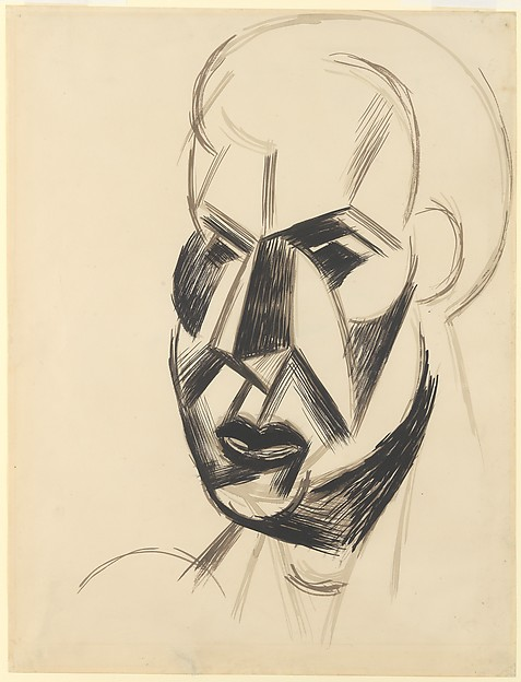 Head, Pablo Picasso (Spanish, Malaga 1881–1973 Mougins, France), Ink on paper