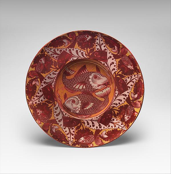 Charger, William De Morgan (British, London 1839–1917 London), Lustred earthenware