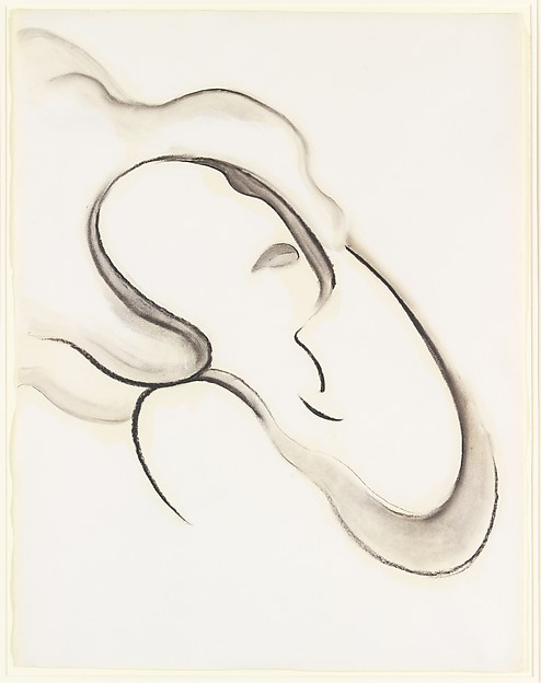 Abstraction IX, Georgia O'Keeffe (American, Sun Prairie, Wisconsin 1887–1986 Santa Fe, New Mexico), Charcoal on paper