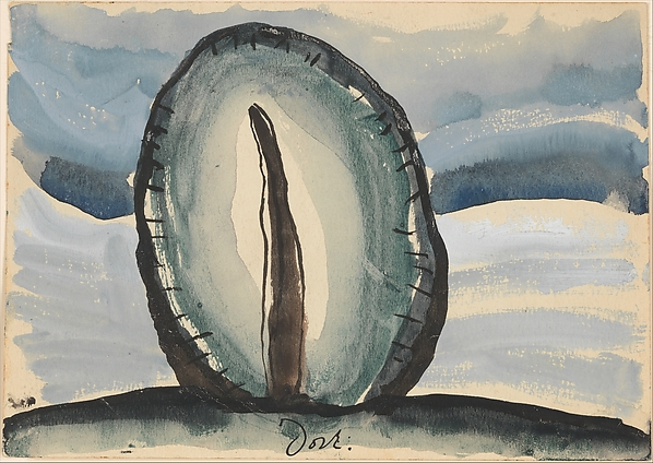 Tree, Arthur Dove (American, Canandaigua, New York 1880–1946 Huntington, New York), Watercolor, tempera, and ink on paper