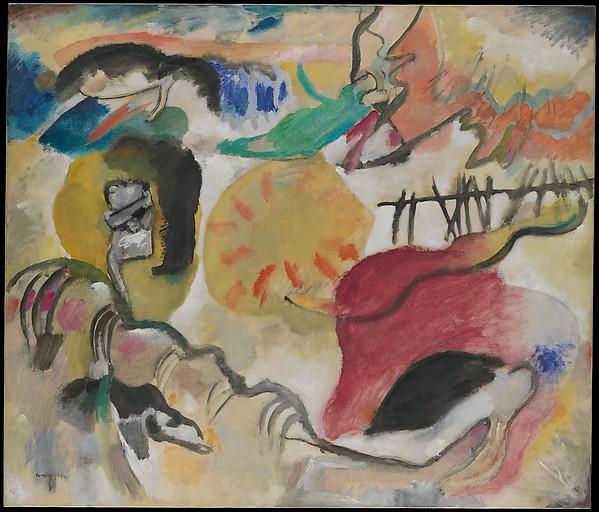 Improvisation 27 (Garden of Love II), Vasily Kandinsky (French (born Russia), Moscow 1866–1944 Neuilly-sur-Seine), Oil on canvas