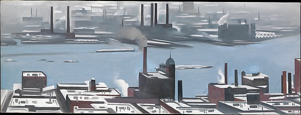 East River from the Shelton Hotel, Georgia O'Keeffe (American, Sun Prairie, Wisconsin 1887–1986 Santa Fe, New Mexico), Oil on canvas