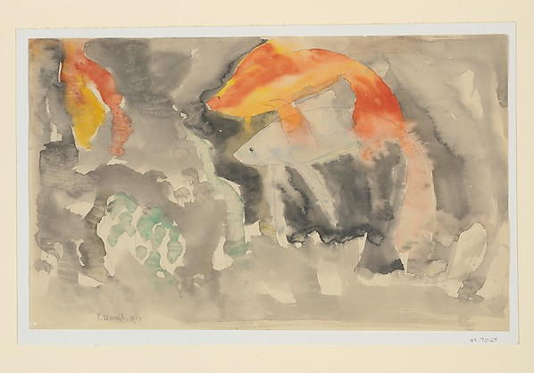 Fish Series, No. 5, Charles Demuth (American, Lancaster, Pennsylvania 1883–1935 Lancaster, Pennsylvania), Watercolor and graphite on paper