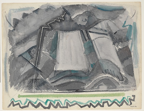 Storm, Taos Mountain, New Mexico, John Marin (American, Rutherford, New Jersey 1870–1953 Cape Split, Maine), Watercolor and charcoal on paper