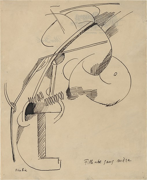 Girl Born without a Mother, Francis Picabia (French, Paris 1879–1953 Paris), Ink on paper