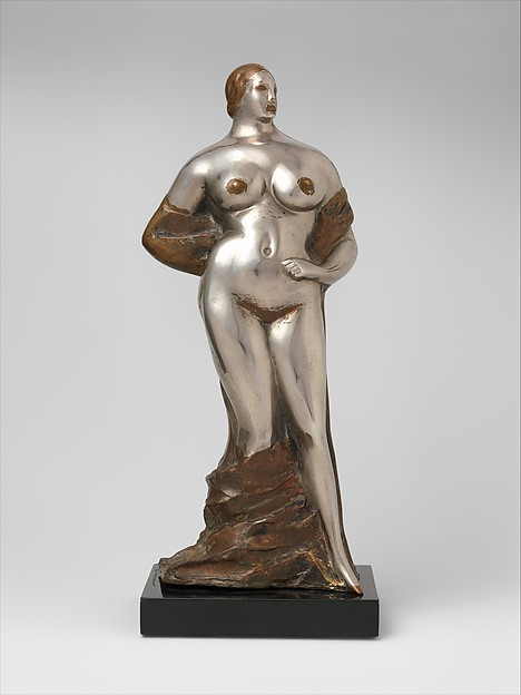 Standing Nude, Gaston Lachaise (American (born France) 1882–1935), Nickel-plated bronze