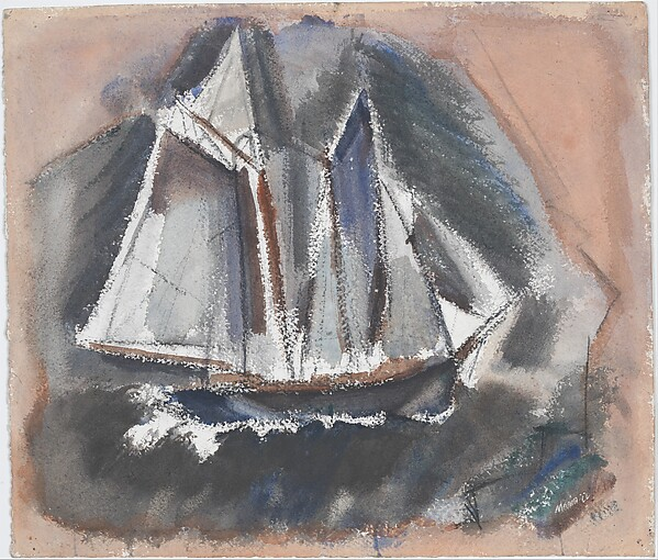 The Old Salt, John Marin (American, Rutherford, New Jersey 1870–1953 Cape Split, Maine), Watercolor and charcoal on paper