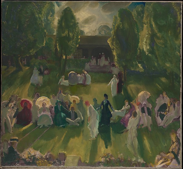 Tennis at Newport, George Bellows (American, Columbus, Ohio 1882–1925 New York), Oil on canvas