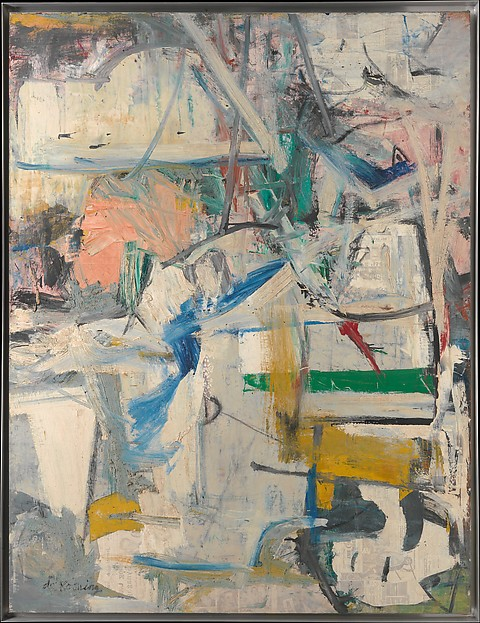 Easter Monday, Willem de Kooning (American (born The Netherlands), Rotterdam 1904–1997 East Hampton, New York), Oil and newspaper transfer on canvas