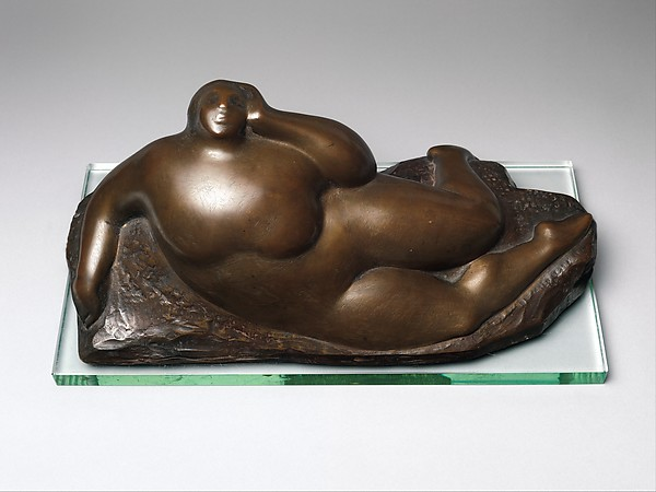 The Mountain, Gaston Lachaise (American (born France) 1882–1935), Bronze, with artist-designed glass plinth