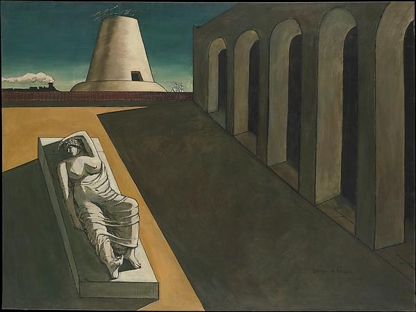 Ariadne, Giorgio de Chirico (Italian (born Greece), Vólos 1888–1978 Rome), Oil and graphite on canvas