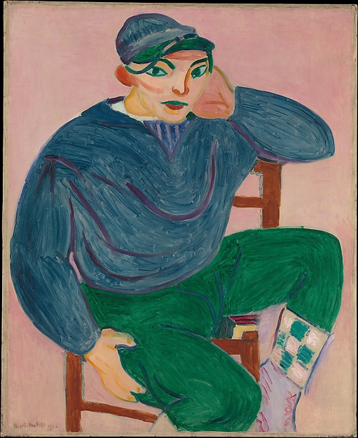 Young Sailor II, Henri Matisse (French, Le Cateau-Cambrésis 1869–1954 Nice), Oil on canvas