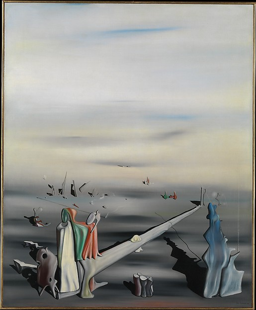 The Satin Tuning Fork, Yves Tanguy (American (born France), Paris 1900–1955 Woodbury, Connecticut), Oil on canvas