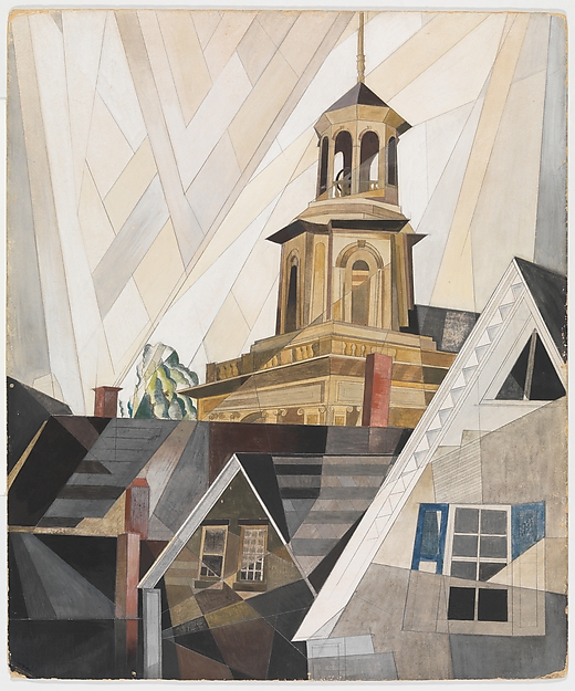 After Sir Christopher Wren, Charles Demuth (American, Lancaster, Pennsylvania 1883–1935 Lancaster, Pennsylvania), Watercolor, gouache, and graphite on cardboard