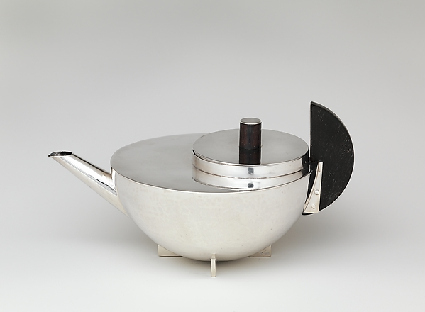 Tea Infuser and Strainer, Marianne Brandt (German, Chemnitz 1893–1984 Kirchberg), Silver and ebony