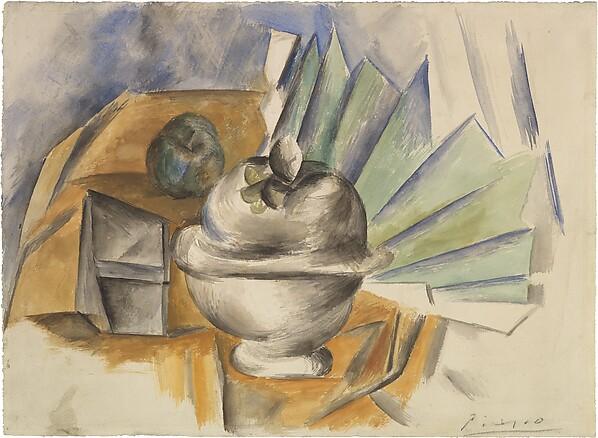 Sugar Bowl And Fan Pablo Picasso Spanish Malaga 1881 1973 Mougins