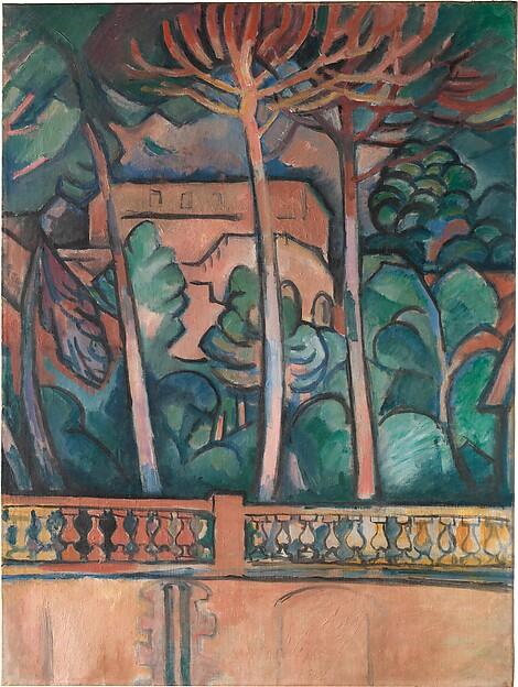 The Terrace at the Hôtel Mistral, Georges Braque (French, Argenteuil 1882–1963 Paris), Oil on canvas