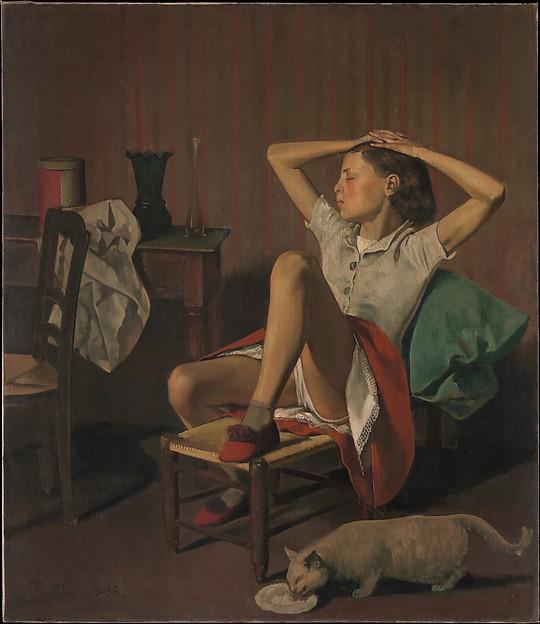 Thérèse Dreaming, Balthus (Balthasar Klossowski) (French, Paris 1908–2001 Rossinière), Oil on canvas