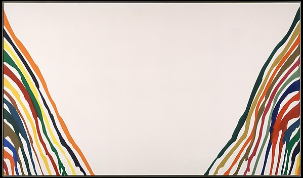 Alpha-Pi, Morris Louis (American, 1912–1962), Magna on canvas