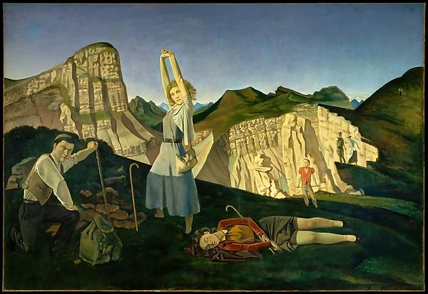 The Mountain, Balthus (Balthasar Klossowski) (French, Paris 1908–2001 Rossinière), Oil on canvas