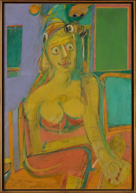 Woman, Willem de Kooning (American (born The Netherlands), Rotterdam 1904–1997 East Hampton, New York), Oil and charcoal on canvas