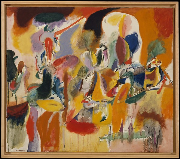 Water of the Flowery Mill, Arshile Gorky (American (born Armenia), Khorkom 1904–1948 Sherman, Connecticut), Oil on canvas