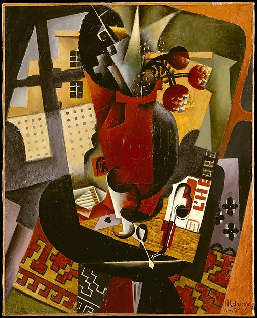 Table by a Window, Jean Metzinger (French, Nantes 1883–1956 Paris), Oil on canvas