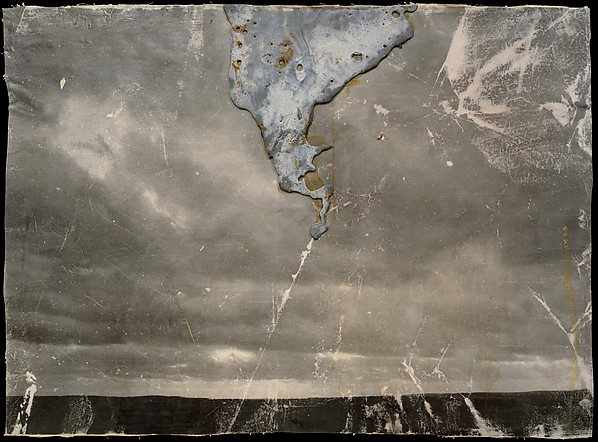 Strike, Anselm Kiefer (German, born Donaueschingen, 1945), Lead, shellac, synthetic adhesive and graphite on photograph, mounted on canvas