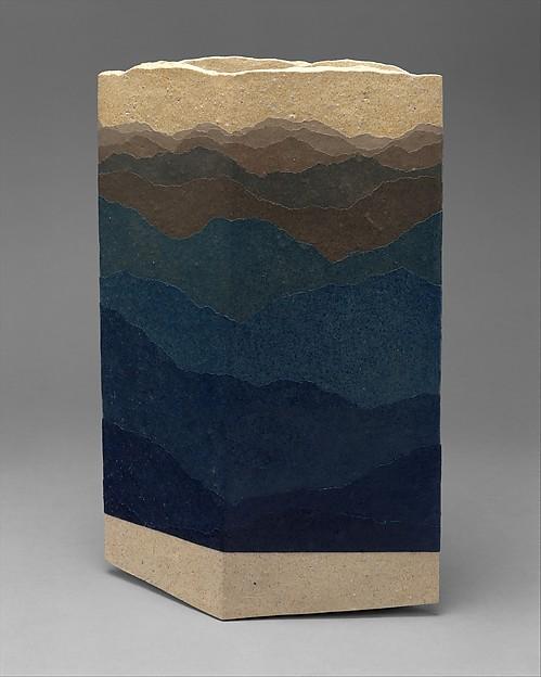 Vase, Zenji Miyashita (Japanese, Kyoto 1939–2012), Stoneware