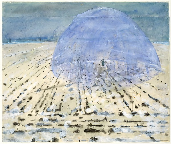 Everyone Stands Under His Own Dome of Heaven, Anselm Kiefer (German, born Donaueschingen, 1945), Watercolor, gouache, and graphite on joined paper