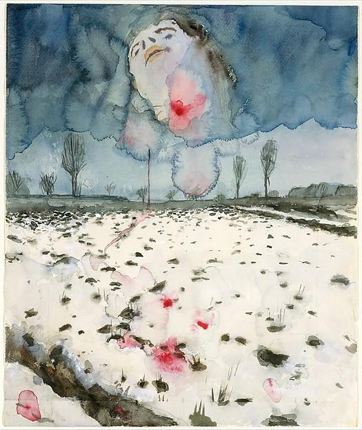 Winter Landscape, Anselm Kiefer (German, born Donaueschingen, 1945), Watercolor, gouache, and graphite on paper