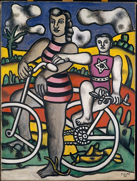 The Bicyclist, Fernand Léger (French, Argentan 1881–1955 Gif-sur-Yvette), Oil on canvas