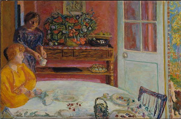 The Dining Room, Vernonnet, Pierre Bonnard (French, Fontenay-aux-Roses 1867–1947 Le Cannet), Oil on canvas