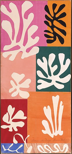Snow Flowers, Henri Matisse (French, Le Cateau-Cambrésis 1869–1954 Nice), Watercolor and gouache on cut and pasted papers