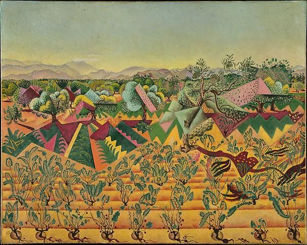 Vines and Olive Trees, Tarragona, Joan Miró (Spanish, Barcelona 1893–1983 Palma de Mallorca), Oil on canvas