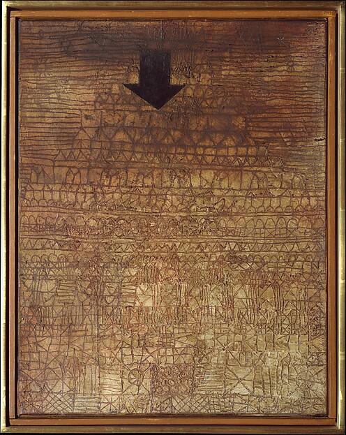 Stricken City, Paul Klee (German (born Switzerland), Münchenbuchsee 1879–1940 Muralto-Locarno), Gypsum and oil on canvas