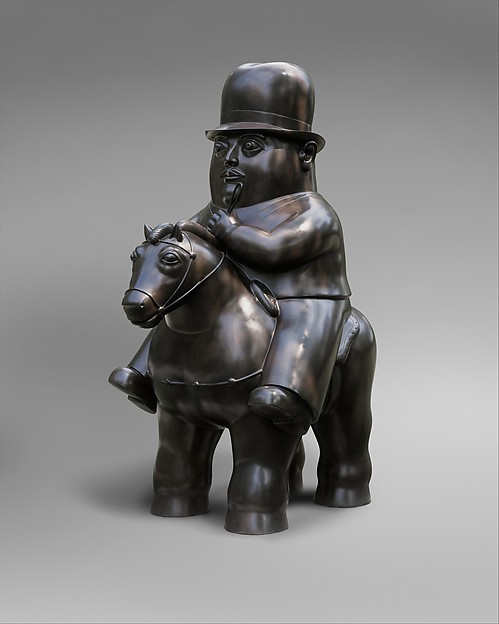 Man on Horseback, Fernando Botero (Colombian, born Medellin, 1932), Bronze