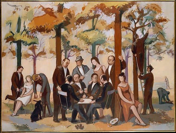 Luxembourg Gardens, Indian Summer, Jean Hélion (French, Couterne 1904–1987 Paris), Oil on canvas