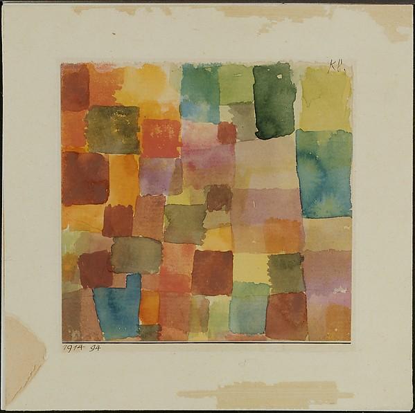 Untitled, Paul Klee (German (born Switzerland), Münchenbuchsee 1879–1940 Muralto-Locarno), Watercolor on paper mounted on cardboard