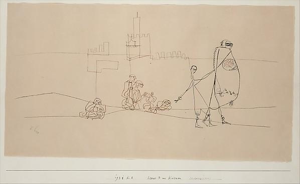 Episode B at Kairouan, Paul Klee (German (born Switzerland), Münchenbuchsee 1879–1940 Muralto-Locarno), Ink on paper mounted on cardboard