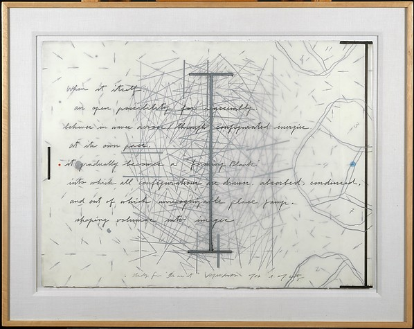 """Study for """"Is As It"""", Arakawa (American, 1936–2010), Acrylic, colored pencil, and cut and pasted paper on paper"""
