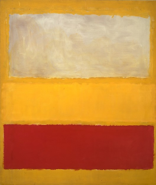 No. 13 (White, Red on Yellow), Mark Rothko (American (born Russia), Dvinsk 1903–1970 New York), Oil and acrylic with powdered pigments on canvas