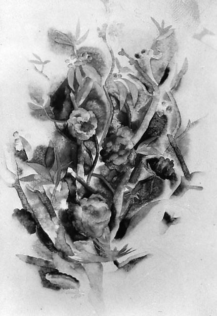 Zinnias and Pinecones, Charles Demuth (American, Lancaster, Pennsylvania 1883–1935 Lancaster, Pennsylvania), Watercolor and graphite on paper