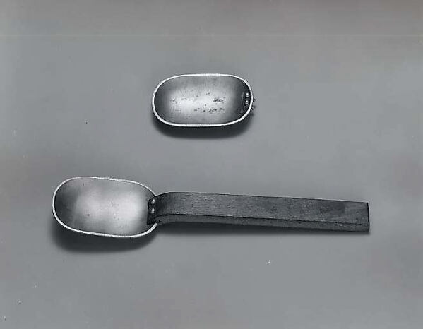 Model for a spoon, Russel Wright (American, Lebanon, Ohio 1904–1976 New York), Aluminum and wood