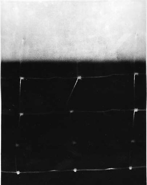 Field, Sydney Butchkes (American, born Covington, Kentucky, 1922), Resist drawing: carbon black and acrylic on paper