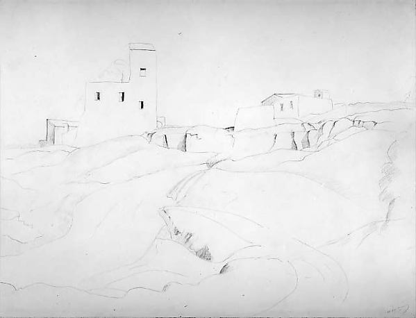 The Wash-house at Castel Gandolfo, André Derain (French, Chatou 1880–1954 Garches), Graphite on paper
