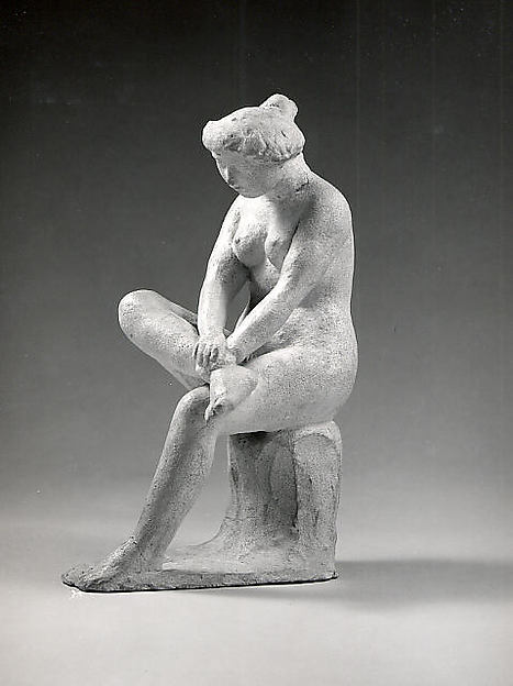 Seated Woman, Aristide Maillol (French, Banyuls-sur-Mer 1861–1944 Perpignan), Plaster