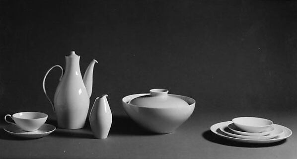 """""""Museum"""" Cup, Eva Zeisel (American, Budapest 1906–2011 New City, New York), Porcelain"""
